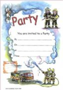 Firemen Party Invitations - Pack of 20